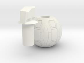 M-IX High-Explosive Dual-Purpose grenade (prop) in White Natural Versatile Plastic