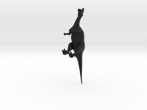 Lambeosaurus m. Standing Medium in Black Natural Versatile Plastic