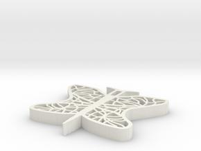 Filigran Butterfly in White Natural Versatile Plastic