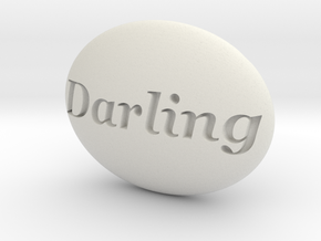 S46 Ellipse Enh. DARLING @ 40 x 30 mm. in White Natural Versatile Plastic