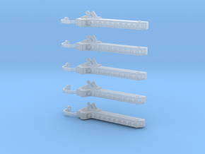 5 Chain swords (right handed) in Smooth Fine Detail Plastic