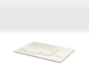 Clouded Skyline in White Natural Versatile Plastic