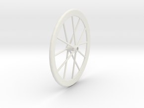 Real Wheel in White Natural Versatile Plastic