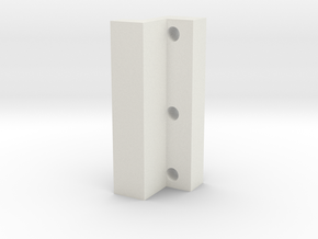 Bracket in White Natural Versatile Plastic