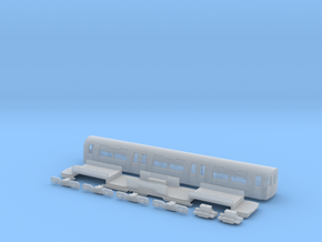 NT95TC 1:148 95 tube stock trailer car in Smooth Fine Detail Plastic