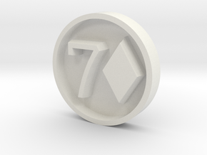 7D_Stamp_v2 in White Natural Versatile Plastic
