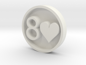 8H_Stamp_v2 in White Natural Versatile Plastic