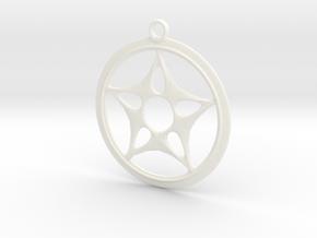 Star Design Necklace in White Processed Versatile Plastic