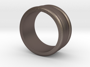 Arc Ring in Polished Bronzed Silver Steel