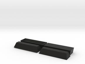 2 Coffin, TT, 1:120 in Black Strong & Flexible