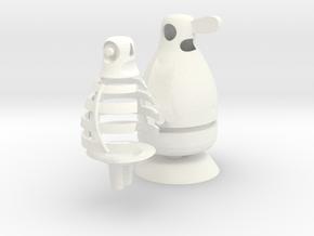 Skin and Bones in White Processed Versatile Plastic