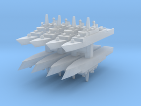 Mowj Frigate 1:6000 x8 in Smooth Fine Detail Plastic