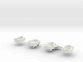 2 Portal Axles v1.0 for Losi MRC in White Natural Versatile Plastic