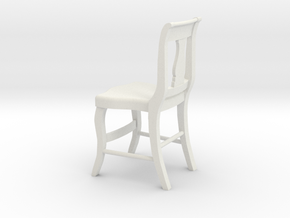 1:24 Wood Chair 1 (Not Full Size) in White Natural Versatile Plastic