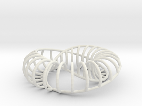 Moebius Arc | Napkin Ring in White Strong & Flexible