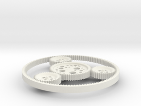 Orbit Gears in White Natural Versatile Plastic