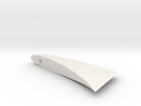 MSLED Tailconev5 Fin in White Natural Versatile Plastic