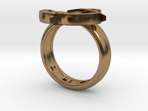 Ahoy Ring (various sizes) in Raw Brass