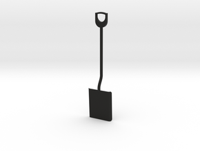 Shovel, 1/8 scale in Black Strong & Flexible