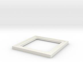 recessedspacer2 in White Natural Versatile Plastic