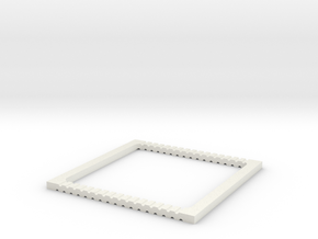 coverslipspacer4 with hexagonal hole pattern in White Natural Versatile Plastic