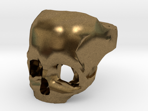 Skull Ring US 10 by Bits to Atoms in Natural Bronze