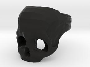Skull Ring US 7 in Black Natural Versatile Plastic