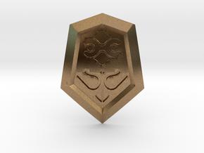 Mirror Shield I in Natural Brass