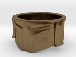 Bounty Hunter Helmet Ring in Natural Bronze