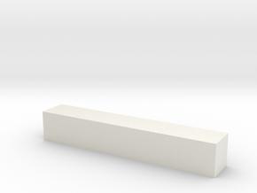 Block 3x3x18 in White Natural Versatile Plastic