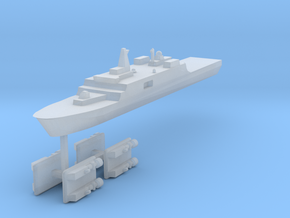 071 PLAN Amphibious Dock V2 + LCACs 1:2400 in Frosted Ultra Detail