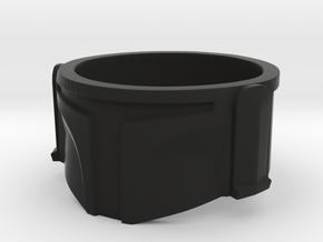 Bounty Hunter Helmet Ring in Black Natural Versatile Plastic