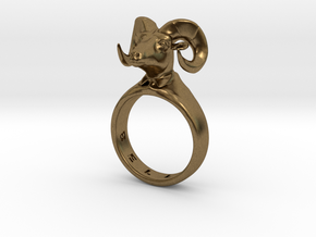 Bellyn Ring in Natural Bronze