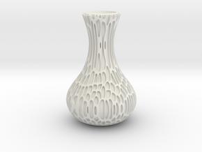Organovase Organic Vase in White Natural Versatile Plastic