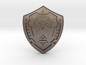 Hero's Shield I in Polished Bronzed Silver Steel