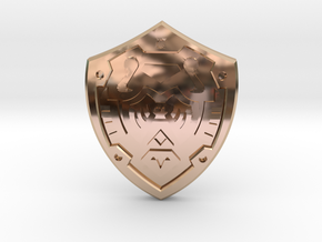 Hero's Shield I in 14k Rose Gold