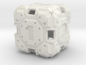 Tech Dice D-6  in White Strong & Flexible