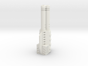 Sunlink - Tri-Barrel Gun v2 in White Natural Versatile Plastic
