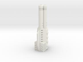 Sunlink - Tri-Barrel Gun v2 in White Natural Versatile Plastic