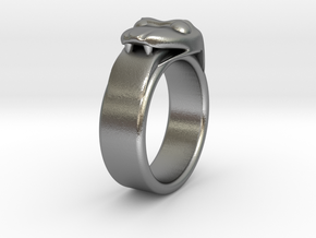 Ouroboros Ring in Natural Silver