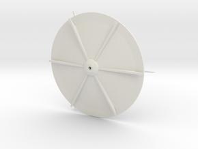 Orion VII  Ø50mm in White Natural Versatile Plastic