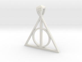 Harry Potter Pendant (metal) in White Strong & Flexible