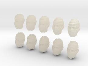 10 28mm Custom Head w/ Cloth Mask in White Acrylic