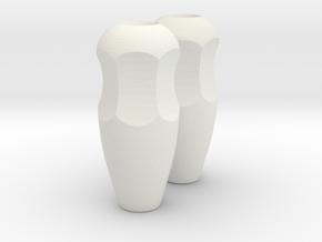 Pinch Gimbal (Fat) in White Natural Versatile Plastic