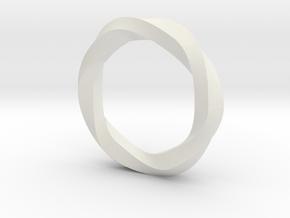 Mobius Pentagon in White Natural Versatile Plastic