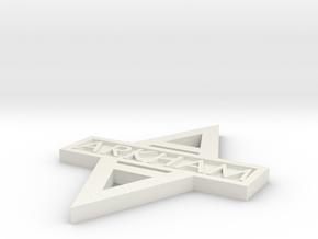Arkham Logo double sided in White Natural Versatile Plastic
