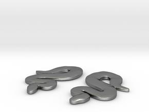 Snake Earrings in Polished Silver