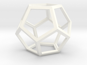 Dodecahedron in Smooth Fine Detail Plastic