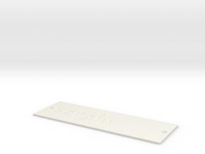 by kelecrea, engraved: sergiu in White Strong & Flexible