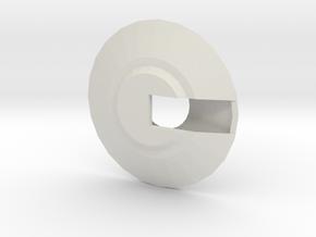 UFO body in White Natural Versatile Plastic